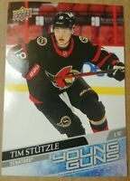 2020-21 Upper Deck Series 2 Oversized Tim Stutzle Young Guns rookie card #482