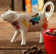 Pioneer Woman Cow Creamer Flea Market Floral Multi Color Stoneware