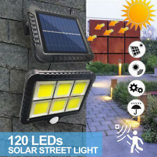 120 LED Solar Motion Sensor Wall Light Outdoor Waterproof Garden Street Lamp