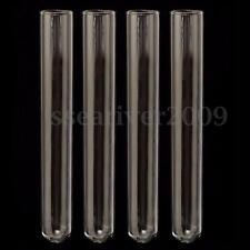 4Pcs Test Tube Pyrex Glass Blowing Tubes Borosilicate Lab Experiment Test Tube