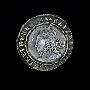 Hammered Tudor Period Elizabeth I Silver Sixpence, 1582
