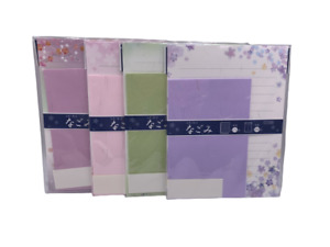 Washi Paper Japanese Letter Set 32 Writing Paper, 16 Envelopes with stickers