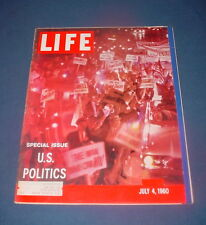 LIFE MAGAZINE JULY 4 1960 AMERICAN POLITICS DEMOCRAT REPUBLICAN NICE!