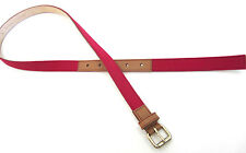 """Paul Smith Mens Slim Pink Leather BELT Made in Spain Size 34"""""""