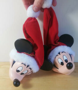 2 x Vintage Disney Mickey Mouse Christmas Tree Baubles Decoration