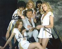 Hand Signed 8x10 photo ROGER MOORE as JAMES BOND plus 4 - MOONRAKER - RARE + COA