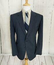Savile Row 44R Sport Coat Mens 2 Button Classic Fit Blazer Wool Blend Blue