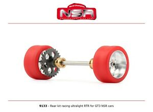 NSR 9133 Rear Axle Kit Ultralight RTR for GT3 NSR Cars