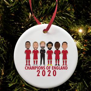 Liverpool Champions Of England 2020 Christmas Tree Decoration Bauble Ceramic etc