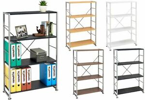 Bookcase with 4 Shelves Storage Furniture for Home & Office Piranha Ballan PC 12