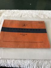 "1969 Mercedes-Benz 250 C 250 CE original catalog ""B"" Original Manual parts book"