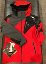 NWTs Spyder Leader Gore-Tex Jacket. Men's/Small RED/CRB/POL (MSRP $500)