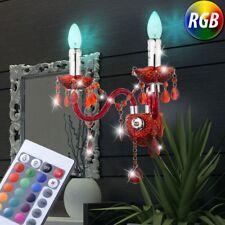 LED Lumière Murale Lustre VARIATEUR Vestibule Lustre RGB télécommande cristaux