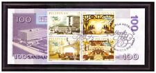 2012 PHILIPPINES 100 peso 100 Yrs Manila Hotel Commemorative +1st Issue Stamp 86