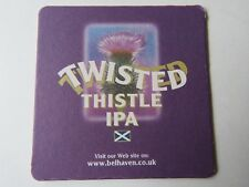 Beer Coaster ~ BELHAVEN Brewery Twisted Thistle IPA ~ SCOTLAND'S Oldest Brewery