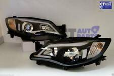 Black LED DRL Day-Time Projector Head Lights for 08-13 Subaru Impreza RS WRX Sti
