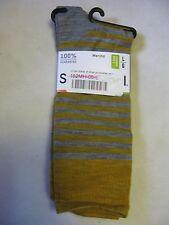 Smartwool men's stria socks merino wool Large L LG gray heather yellow crew !