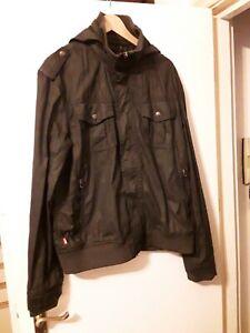 Levis Mens Black Jacket Waterproof Size XL