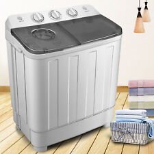 17LBS Portable Compact Washing Machine Top Load Laundry Washer Dryer Twin Tub