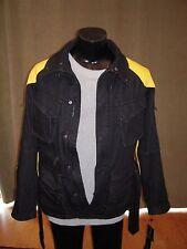 RALPH LAUREN SPEEDWAY Belted Lamb Leather Trim Jacket Denim sz 12 Italy NWT$1995