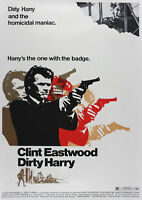 "Reproduction ""Clint Eastwood"" Poster, Dirty Harry, Home Wall Art"