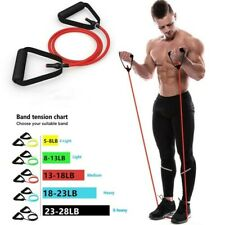 Fitness Workout Exercise Pull Rope Training Tube Resistance Yoga Gym Bands@