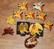 You Get 11 Vintage 1980's Pegasus Enamel Lapel Pins