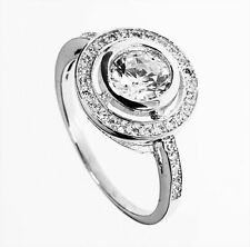 Diamond Silver Plated Solitaire with Accents Unbranded Fashion Rings