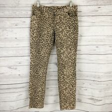 Cache Womens Jeans Size 10 Skinny Leopard Print