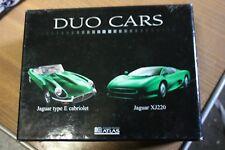 DUO CARS JAGUAR TYPE E ET XJ220 1/43 ATLAS
