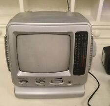 Retro Personal TV & Radio, Black and White, with AC Adapter SA48-127BS