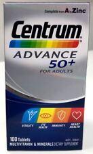 Centrum Advance 50+ Multivitamin 100 tablets 2 Packs Total 200 Tablets ON SALE