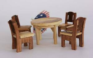 Handmade Beautiful Wooden Chair and Table Toys Set for Kids Us