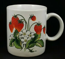 Vintage JAPAN Strawberries Coffee Cup Mug Country Kitchen Fresa Fraise Kitschy