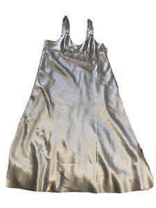Oscar De La Renta Pink Label Satin Night Dress Night Gown Sleepwear Size L EUC