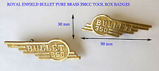 PACK OF 2 - ROYAL ENFIELD BULLET BRASS MADE 350CC TOOL BOX BADGES