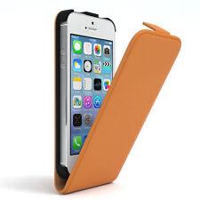 Tasche für Apple iPhone SE / 5S / 5 Flip Case Schutz Hülle Handy Cover Orange