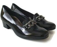 Pavers ALA 2204  black patent slip on shoes size  6 euro 39