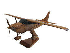 Cessna 206 Super Skylane Wood Wooden Private Pilot Airplane Aviation Model New