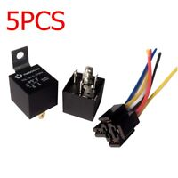 5pc 12V DC 40A Auto Car Truck Van Motorbike 5 Pin Relay With Wires Socket Holder