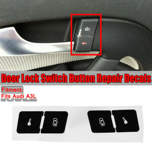 Front Central Lock Button Réparation Stciker Decal Pour Audi A3 8L  FR