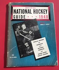 1948  National Hockey Guide  Maurice Richard Cover - Montreal Canadiens