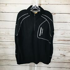 Head Mens Pullover Athletic Zip Neck Long Sleeve Athletic Shirt Size Large