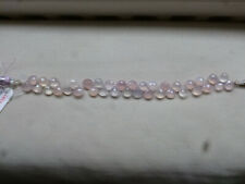 Pale Pastel Pink Lilac Chalcedony Pear Briolette Beads 8mm - 37 beads