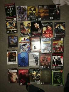 Lot of 26 Boxed PC video games - multiple genres, horror, shooter, stealth