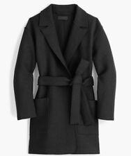 NWT JCREW $168 Wrap coat in boiled wool SizeL Black FA 17 G8031