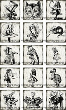 15 SMALL ALICE IN WONDERLAND CAT HANG / GIFT TAGS FOR SCRAPBOOK PAGES (46)