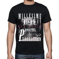 1949,cadeaux,anniversaire,Manches courtes - Homme T-shirt noir