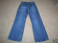 SILVER Flared Leg Button Fly 5 Pocket Cotton Jeans 26X31 Women's #487