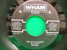 Sunrise Box Of Old Roses / Lonely Weekend 45 Wham Jonesboro AR Ronnie Croom